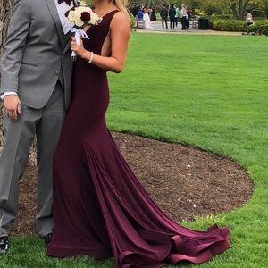 Jovani maroon dress size 0! Worn once.